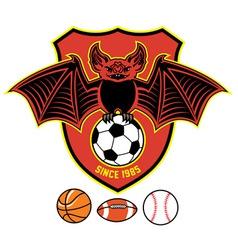 vampire bat as a sport mascot vector image vector image
