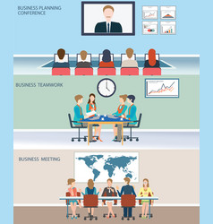 business meeting dasign vector image vector image