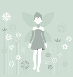 little fairy vector image