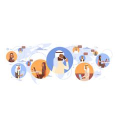 muslim people chat media communication social vector image vector image