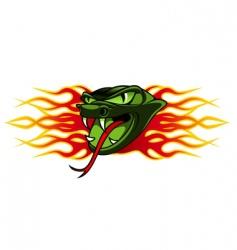 snake tattoo vector image