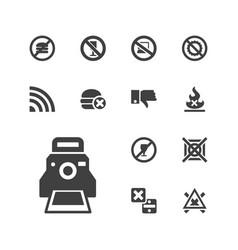 13 no icons vector