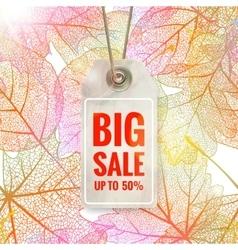 Autumn seasonal sale label EPS 10 vector image