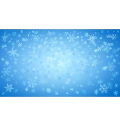 Background of falling snowflakes vector