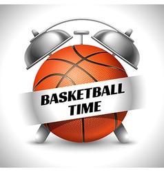Basketball time vector