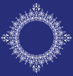beautiful detailed circle frame oriental style vector image