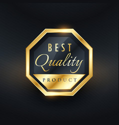 Best quality product golden label and badge design vector