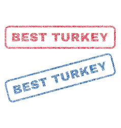 best turkey textile stamps vector image