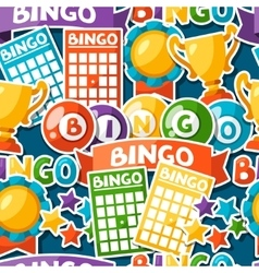 Bingo or lottery game seamless pattern with balls vector image