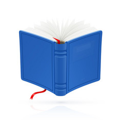 blue open book with red vector image