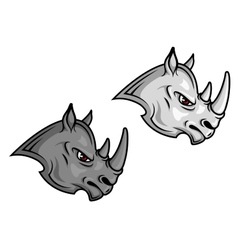 Cartoon rhino mascots vector