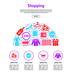 cartoon silhouette shopping card sale shop concept vector image