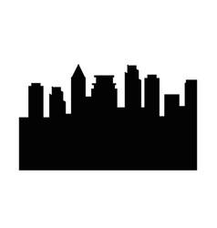 City buildings silhouette vector