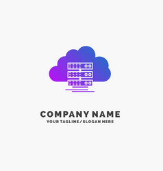 cloud storage computing data flow purple business vector image