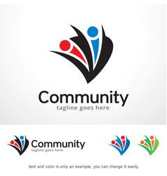 Community logo template design vector
