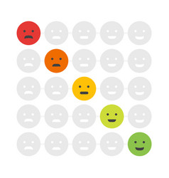 customer feedback emoticon rank or level of vector image