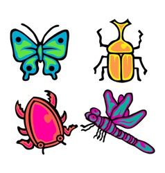 Cute Insect Pack vector
