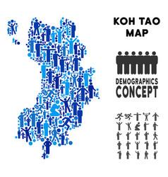 Demographics koh tao thai island map vector
