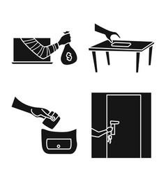 Design robber and villain logo vector