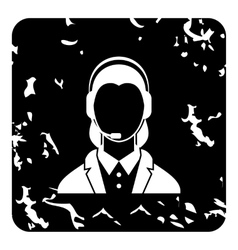 Dispatcher icon grunge style vector image