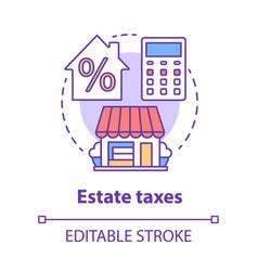 Estate taxes concept icon financial levy idea vector