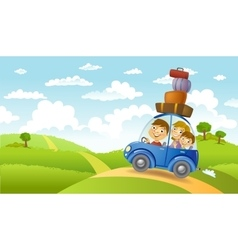 Family summer adventure vector