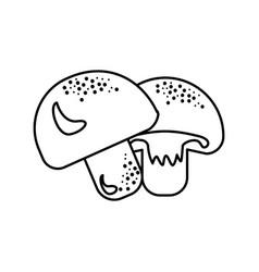 Figure delicious fresh mushrooms organ food vector