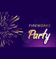 firework show banner vector image