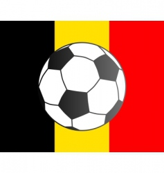 flag of Belgium and soccer ball vector image vector image