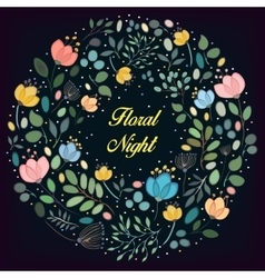 Floral ring Floral night vector