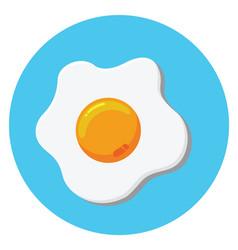 Fried egg 01 vector
