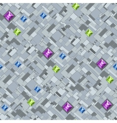 Geometric texture with colorful diamonds vector image