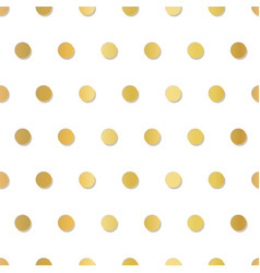 gold foil polka dots 3d seamless pattern vector image