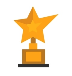 Golden star award on white vector