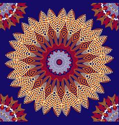 greek colorful floral seamless mandalas pattern vector image