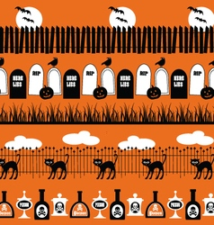 halloween border patterns vector image