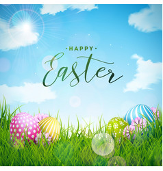 Happy easter holiday with vector