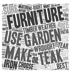 How to choose your garden furniture and make it vector