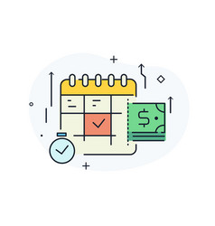 Important business event calendar planning vector
