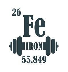iron text and gym equipment vector image