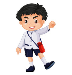 japanese boy in school uniform vector image