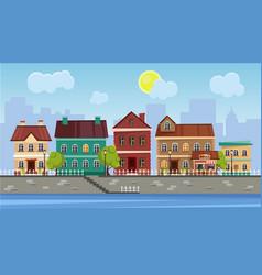 Landscape historic city vector