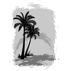landscape with palms vector image