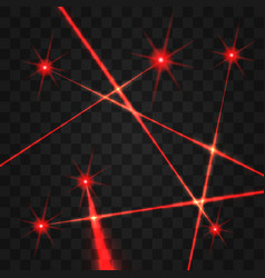laser beams set vector image