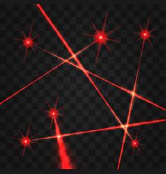 laser beams set vector image
