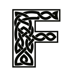 Letter with celtic ornament vector