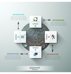 Modern infographic option banner vector