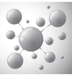 Molecule on a gray background vector image