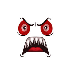 Monster face cartoon icon halloween ghost vector