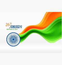 Nice indian republic day tricolor flag background vector